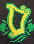 Celtic Harp with Shamrocks