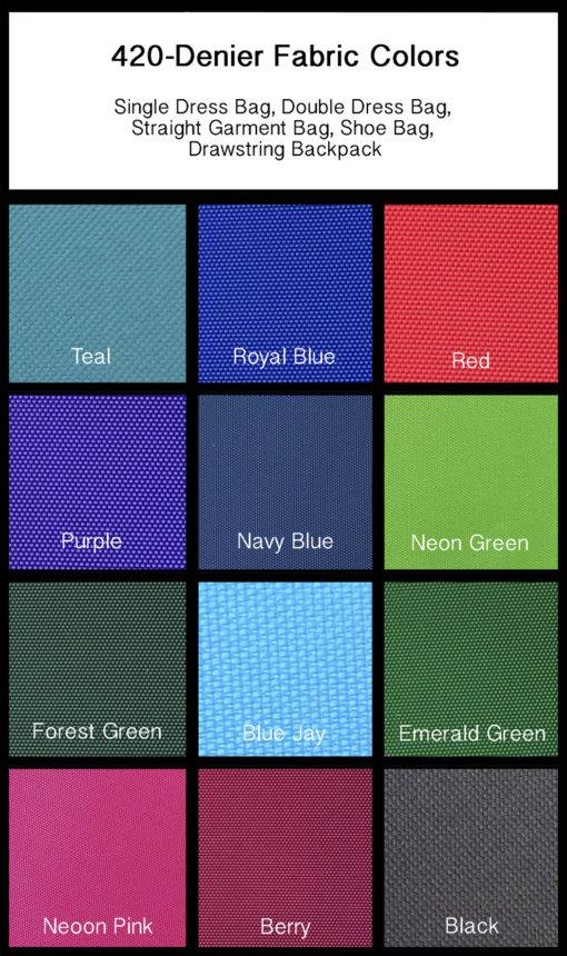 420 Denier Fabric Colors