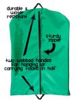 Straight Garment Bag - Outside