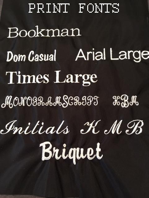 Print Fonts