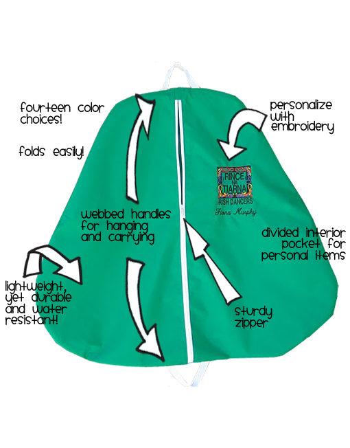 Single Sided Irish Dance Dress Bag