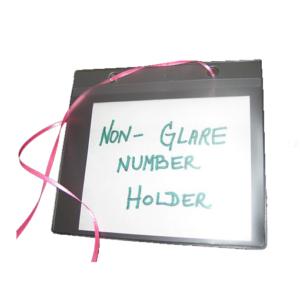 Non-Glare Number Card Holder