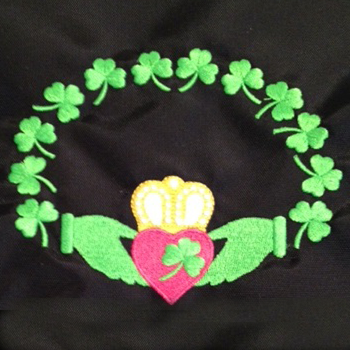 Claddagh made of Shamrocks