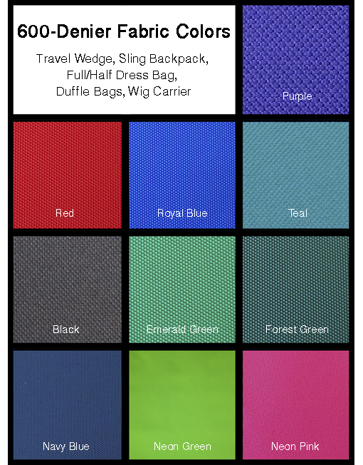 600-denier Fabric Colors