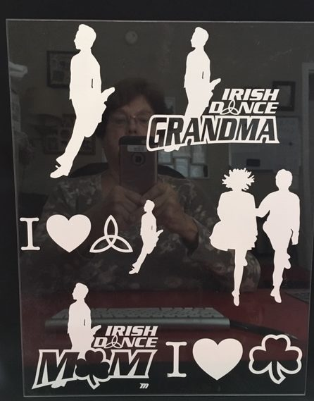 Irish Dance Car Stickers