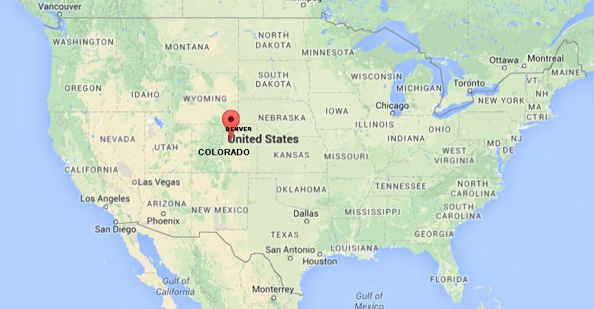 MAP OF CENTENNIAL COLORADO, USA