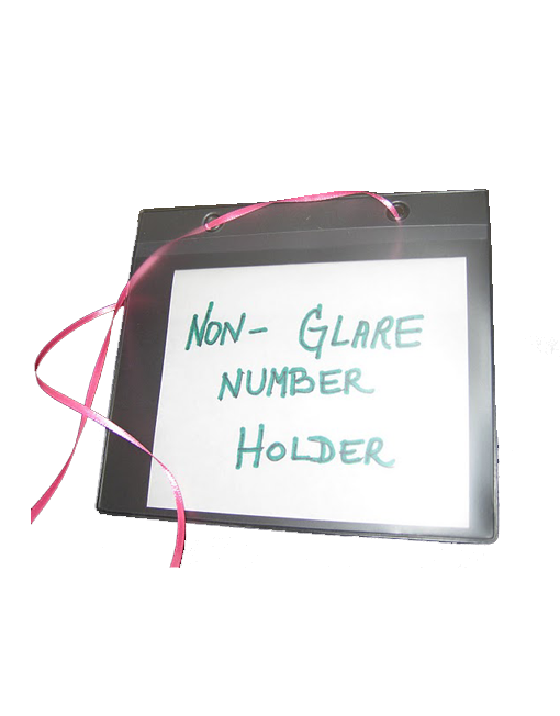 Non-Glare Number Card Holder