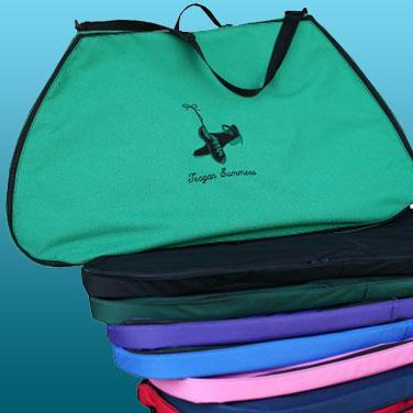 Irish dance garment bags of various colors